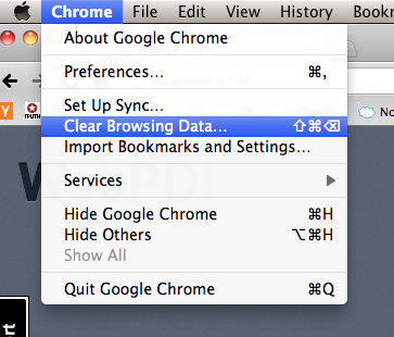 Go to your Chrome browser menu